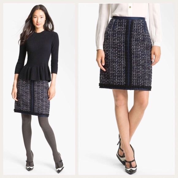299a0235ff85dd Tory Burch Skirts | Annabelle Sparkle Tweed Skirt | Poshmark